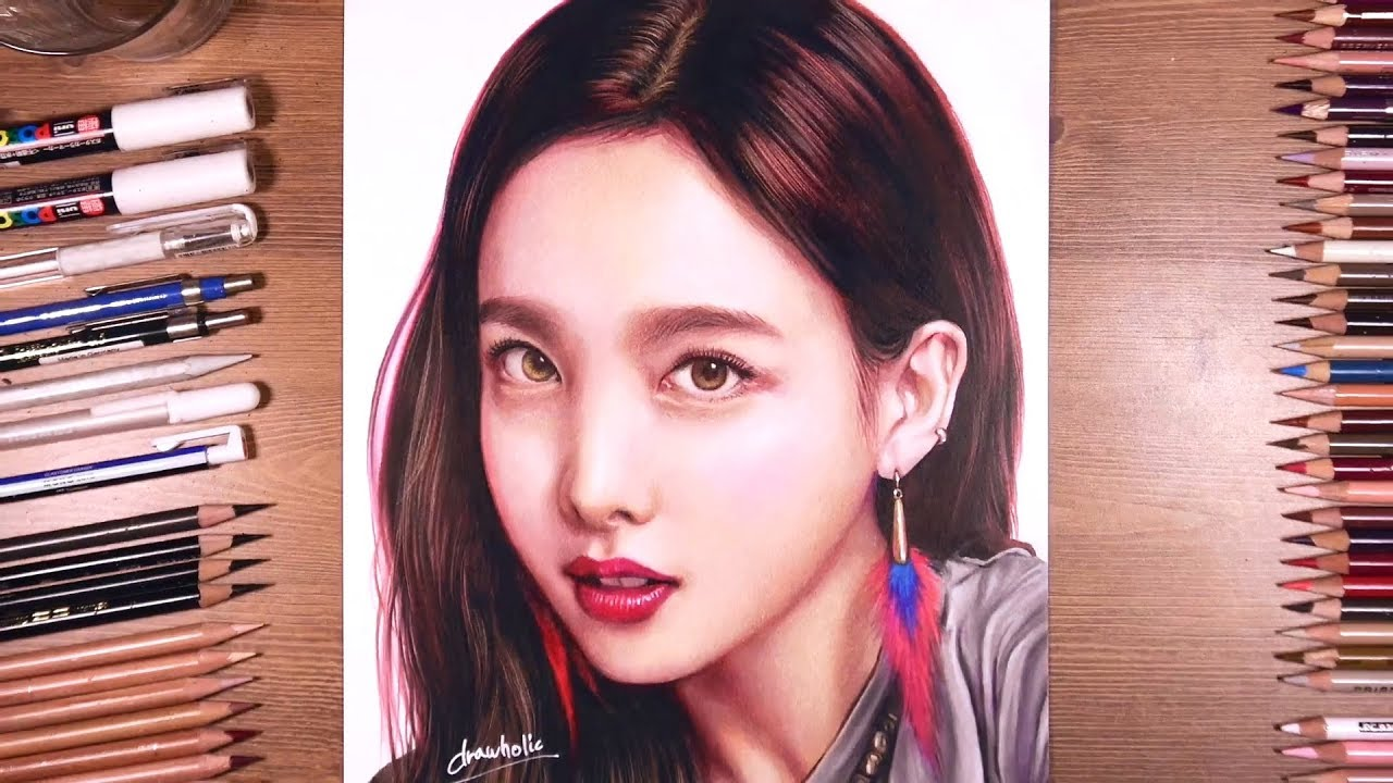 Twice   Nayeon - Colored Pencil Drawing