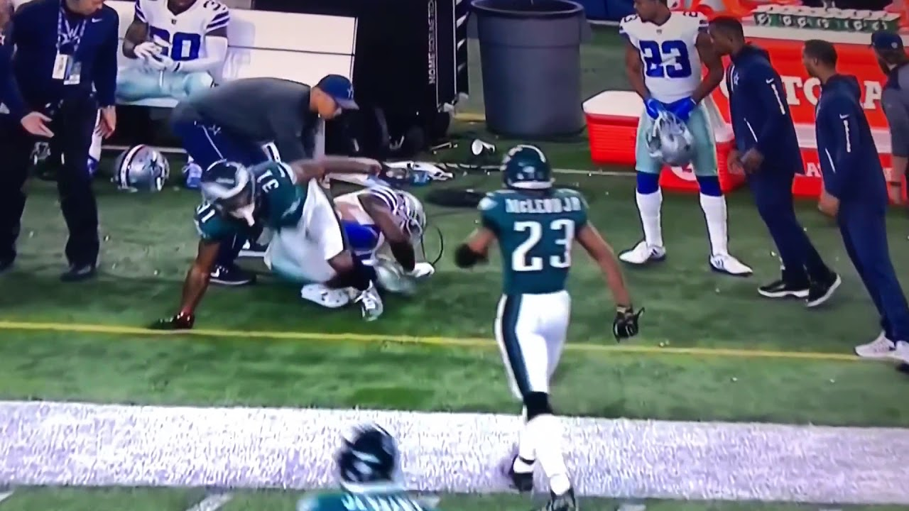 Dez Bryant Gets Destroyed By A Eagles Db Huge Hit