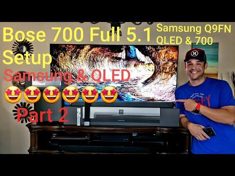 Bose Soundbar 700 Bass Module700 Surround Speakers + Samsung Q9FN Qled Hdmi Arc 5.1 Audio Setup