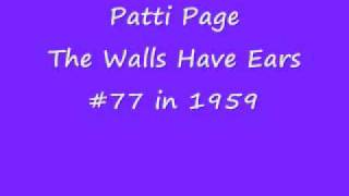 Patti Page - THE WALLS HAVE EARS