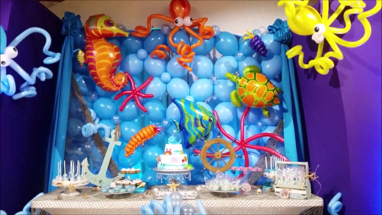 Under the Sea Theme Party Decor   YouTube Under the Sea Theme Party Decor