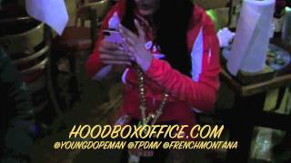 French Montana vs 12 Shots of Partron on Young Dope Man BDay