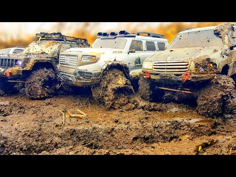 RC Cars Extreme MUD 4x4 OFF Road Adventures — Hummer H1, FJ Cruiser, Land Cruiser, Jeep, HG P401