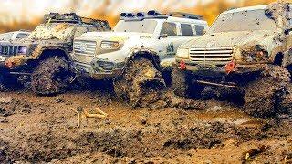 RC Cars Extreme MUD 4x4 OFF Road Adventures — Hummer H1, FJ Cruiser, Land Cruiser, Jeep, HG P401