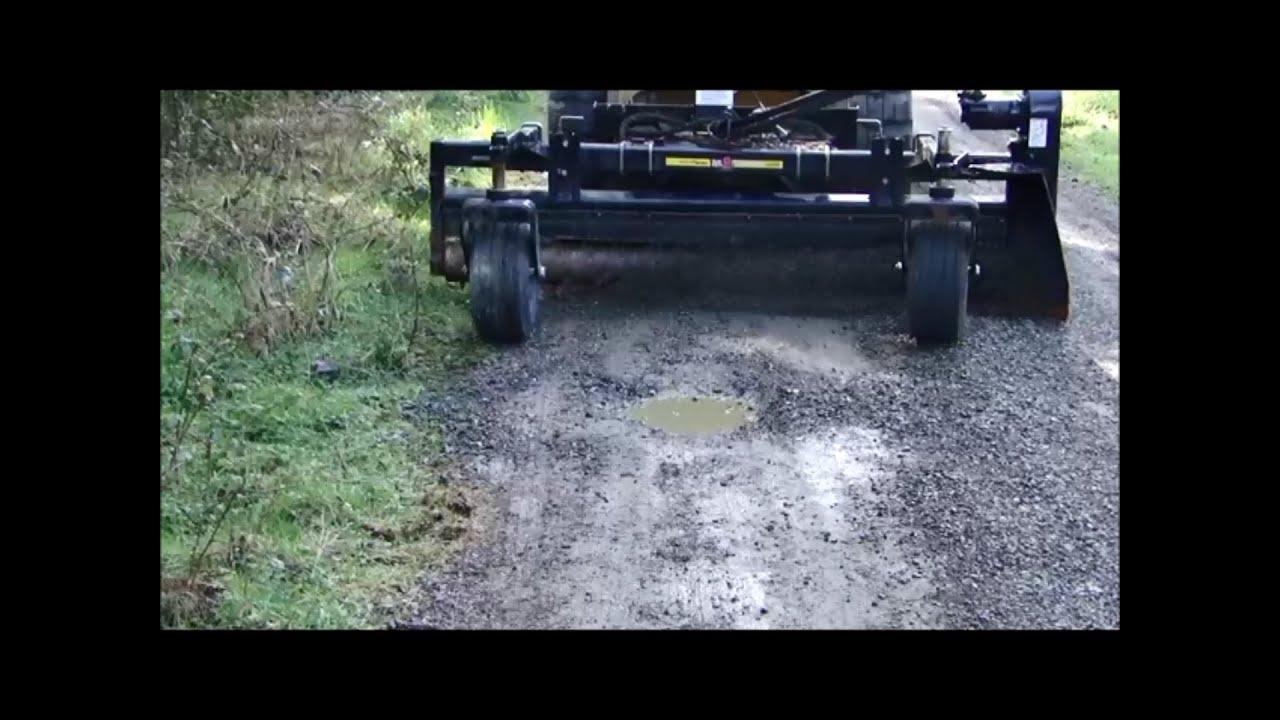 How To Resurface A Gravel Driveway With A Power Box Rake Harley