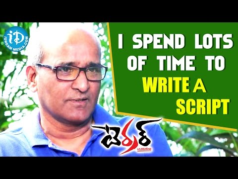 I Spend lots of Time To Write a Script - Satish Kasetty || Talking Movies With iDream