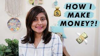 HOW MUCH MONEY I MAKE THROUGH YOUTUBE 💰 The Ways In Which I Make Money Online | Kritika Goel
