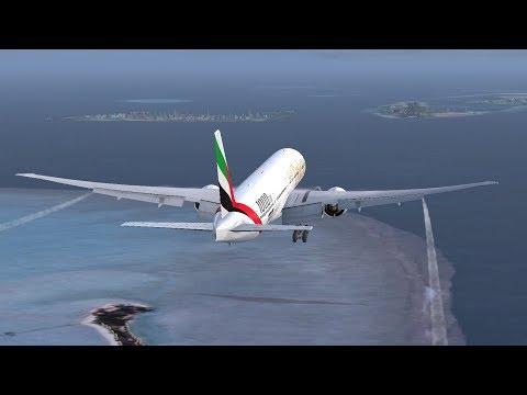 FSX:SE   ✈ VCBI Colombo Int'l - VRMM Male Int'l ✈   PMDG 777-F   Emirates Airlines EK635