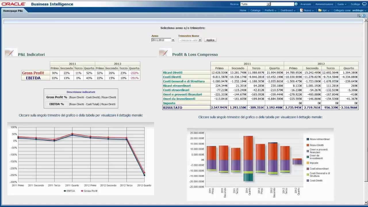gn jpov - profit  u0026 loss analysis dashboard in oracle business intelligence 11g