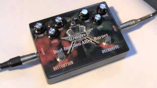 Crossfire Guitar Effects Pedals: Dual Distortion/Overdrive Pedal