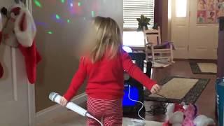 Sings karaoke Beautiful little girl singing dancing ONE DIRECTION