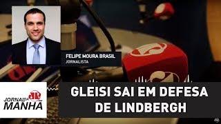 Gleisi sai em defesa de Lindbergh, como uma mamãe em defesa do filhinho | Felipe Moura Brasil