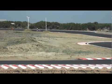 Practising in Akrotiri Kart Club