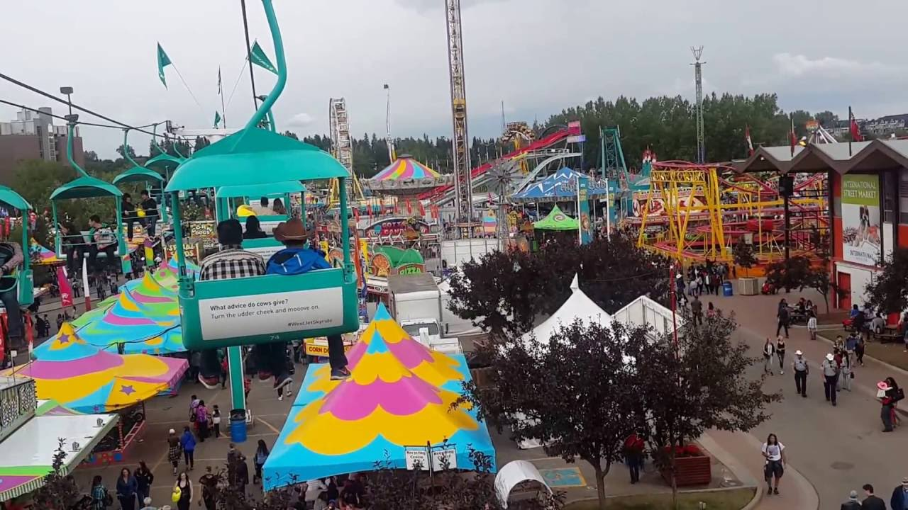 Calgary Stampede Ground Sky Ride 2016 Youtube