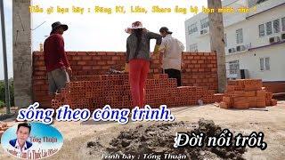 [Karaoke] Đời Thợ Xây | Nhạc Chế Cô Hàng Xóm | Tống Thuận