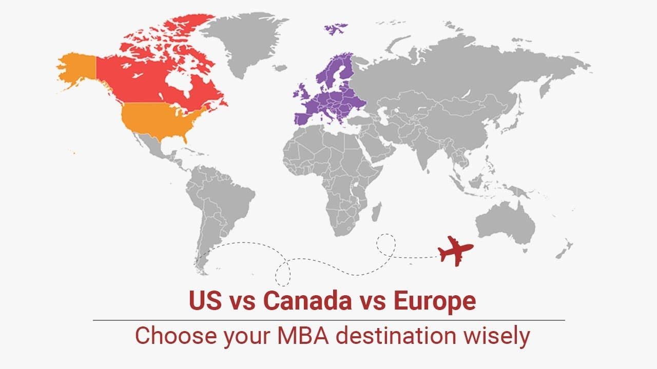MBA US v Europe v Canada