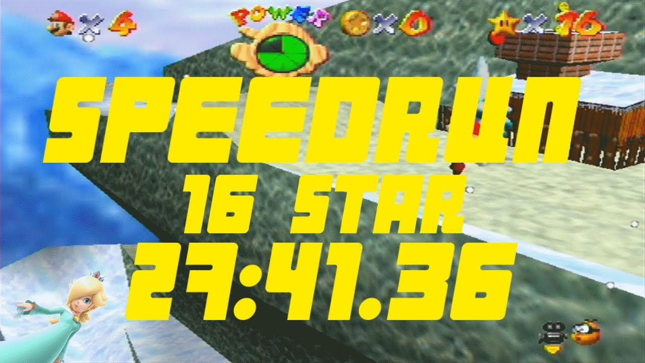 Super Mario 64 16 Star Speedrun | 27:41 36 (Not64 Emulator)