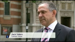 Jack Valero on Channel 5 news item on charges against Cardinal Pell