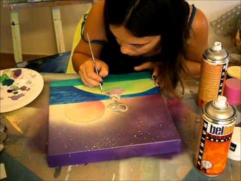 realisation d une toile pour enfant pour celya par hellody