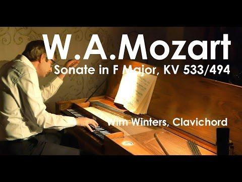 W.A.MOZART :: Sonata n°15 in F Major,  KV 533/494 :: Wim Winters, clavichord