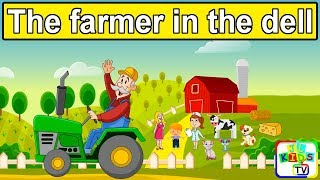 The Farmer in the Dell with Lyrics | Kids Songs, Children Songs, Bedtime Nursery Rhymes for Toddlers