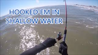 Catching King fish and Pompano off the Jersey Shore Surf