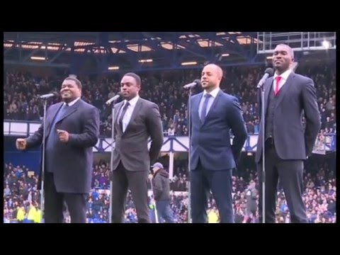 The Drifters Perform At Goodison!