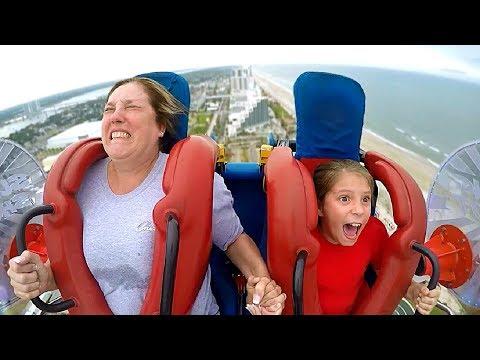 Moms & Daughters #1   Funny Slingshot Ride Compilation