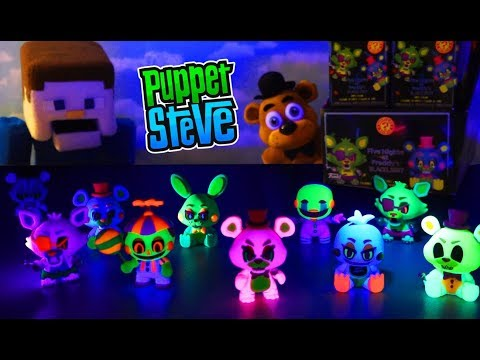 Five Nights at Freddy's FUNKO Blacklight Mystery Minis Case Unboxing