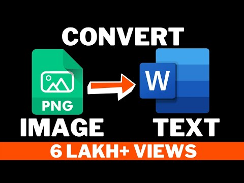 How To Convert Image To Editable Text(Image To Text Conversion) For Free !Hindi