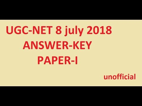 Answers key UGC -NET 8 July PAPER-1 Full solution