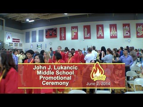 John J Lukancic Middle School 8th Grade Promotion Ceremony 2014