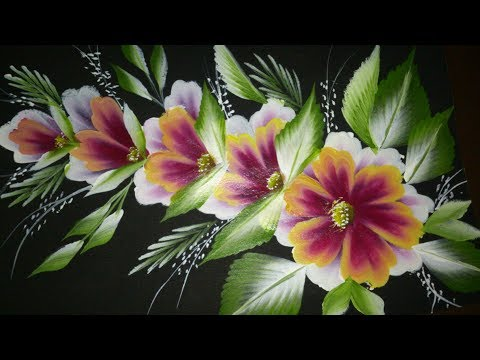 One stroke painting for beginners. One stroke decorative art  painting techniques.