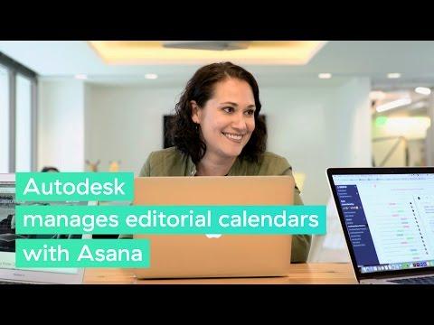 Autodesk manages editorial calendars #withAsana