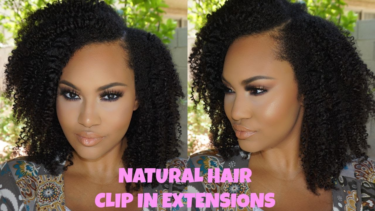 Natural Hair Clip In Extensions How To Install Style Ft Big