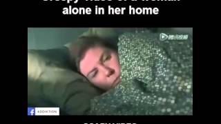 Creepy Clip | Woman At Home Alone