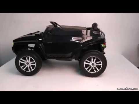 Детский электромобиль Джип 2016 EBLRS-2 Hummer, черный - дисней.com.ua