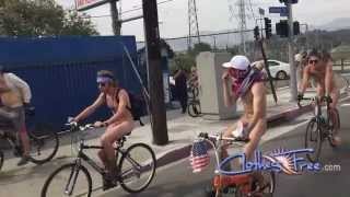 World Naked Bike Ride Los Angeles 2015 - Extended Preview - Brought to you by ClothesFree.com