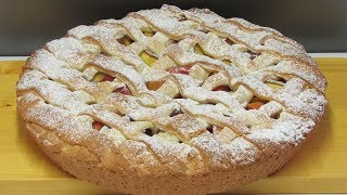 видео Пирог с яблоками и персиками: просто, вкусно, полезно