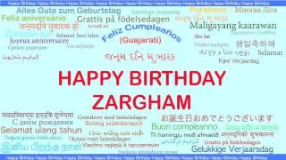 Zargham   Languages Idiomas - Happy Birthday