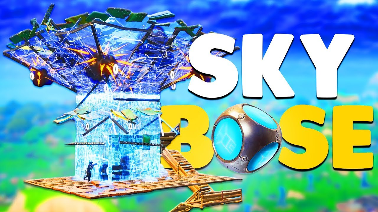 fortnite how to build skybase