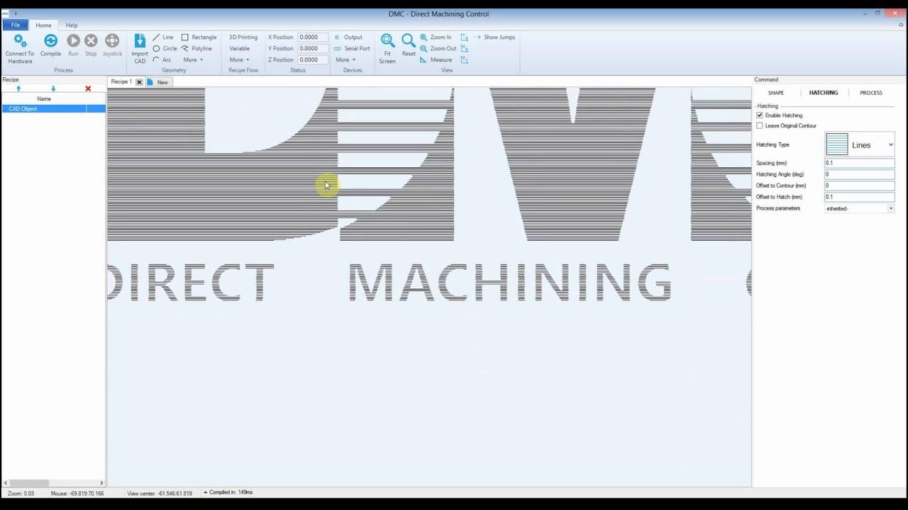 DMC: Import and prepare DXF file