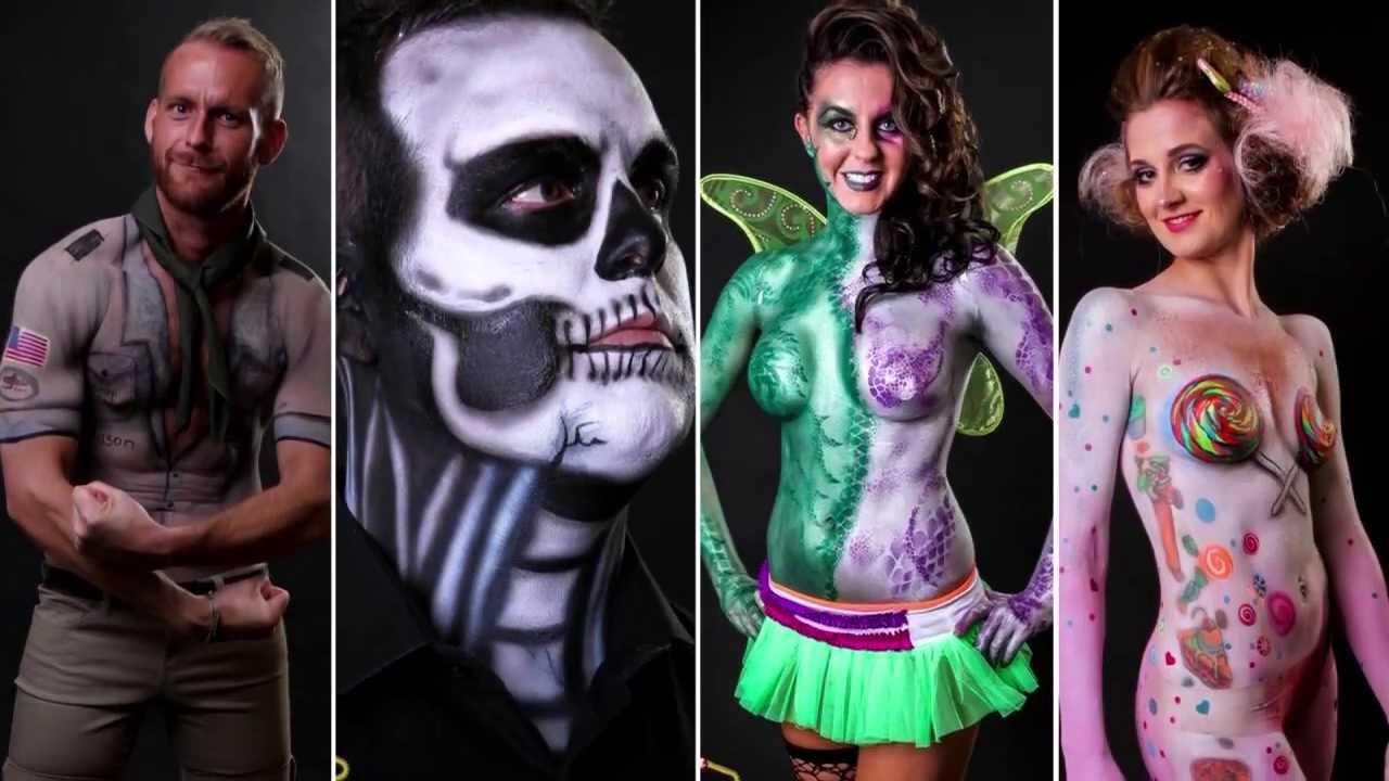 Halloween 2013 Skin City Body Painting Youtube