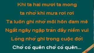 Khi Ta Hai Muoi Karaoke - Thanh Lan - CaoCuongPro