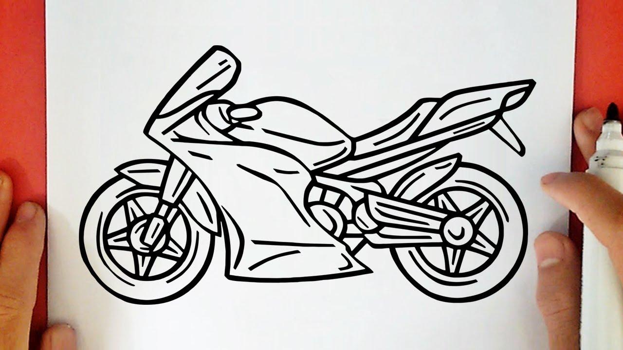 Come Disegnare Una Moto Youtube