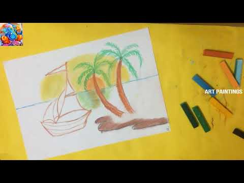 how to draw soft pastal paintings