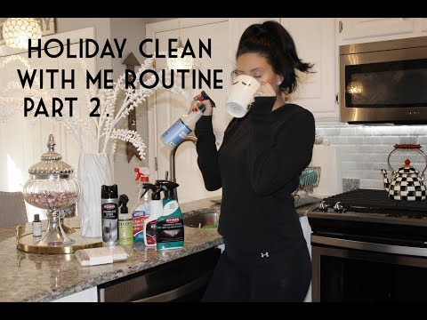 HOLIDAY CLEAN WITH ME ROUTINE - KITCHEN / LIVING ROOM