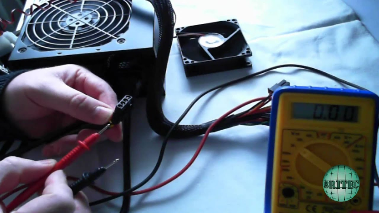 Manually Test a (PSU) Power Supply With a Multimeter by Britec - YouTube