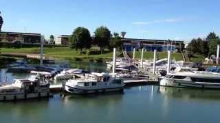 Port de plaisance de Chalon sur Saône 2014, bords de Saône, tourisme fluvial en Bourgogne
