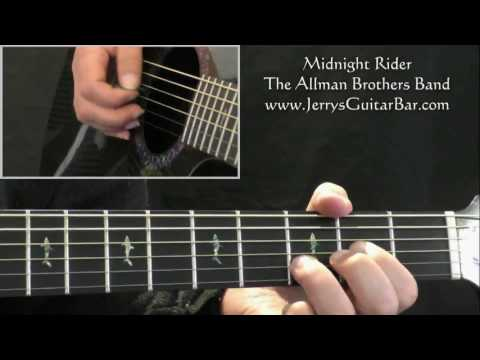 How To Play The Allman Brothers Band Midnight Rider (intro only)
